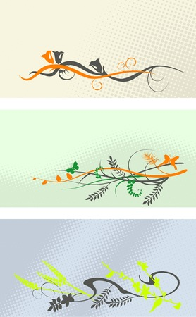 spring - banner set Vector
