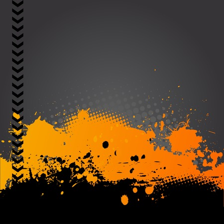 mixed media: abstract background with space for text Illustration