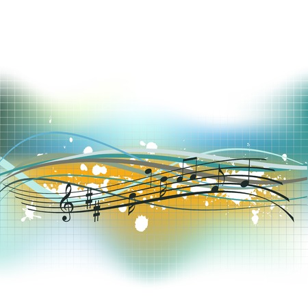 musical background with space for a text Stock Vector - 4797731