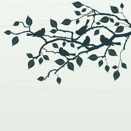 Floral Background, birds Illustration
