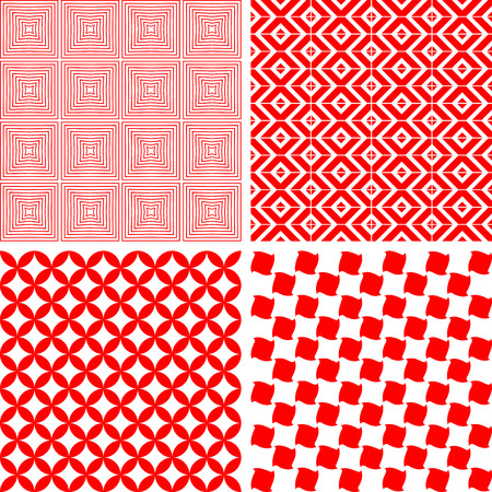 seamless repeat pattern, abstract background - set Vector