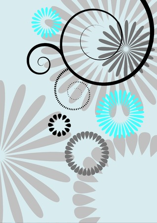 abstract flowers, meadow, garden Stock Vector - 4797733