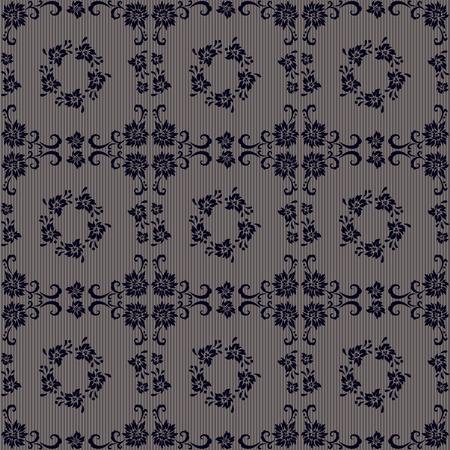 retro wallpaper - seamless repeat pattern Vector