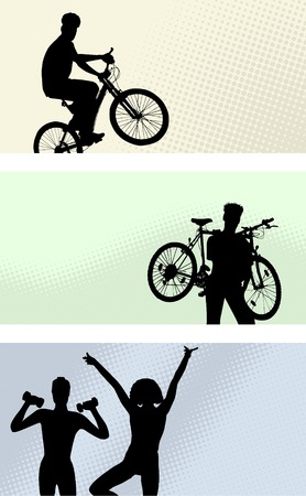 three banner - sport Vector