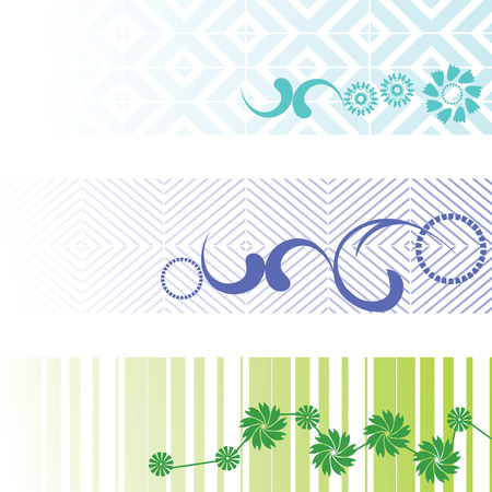 three banners - vector set Vector
