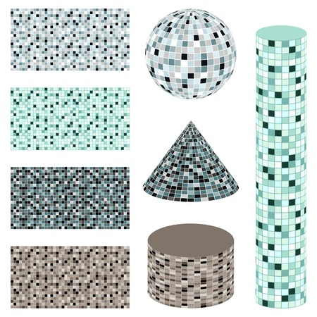 Abstract mosaic background - vector set Vector