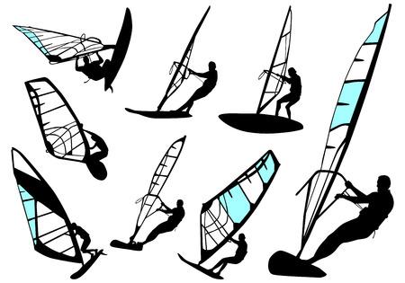 windsurfing - vector set Vector