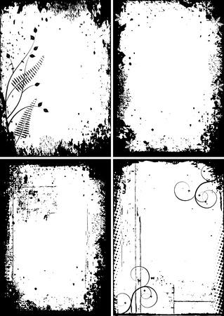 Four grunge frames for your design Stock Vector - 4880931