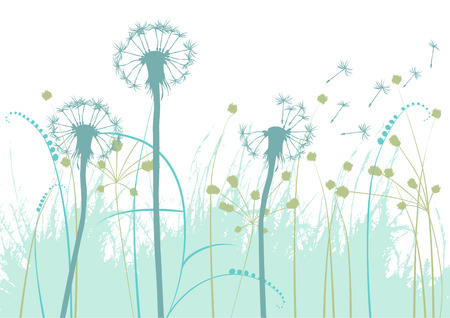 dandelion: floral background, low-ball