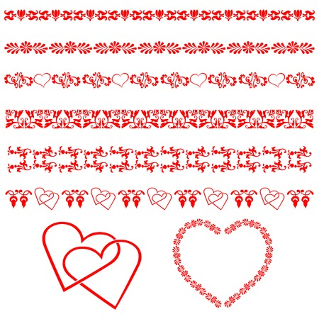 collection, for designers, ornament Vector
