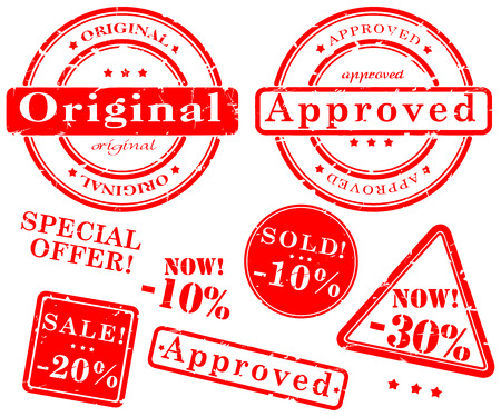 spoil: Sale stamp vector set