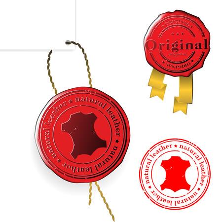 Sale wax stamp - vector set Vector