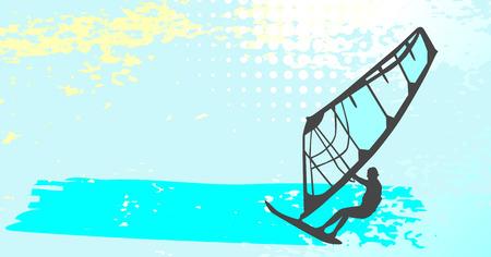 windsurfing - vector set Stock Vector - 5083685