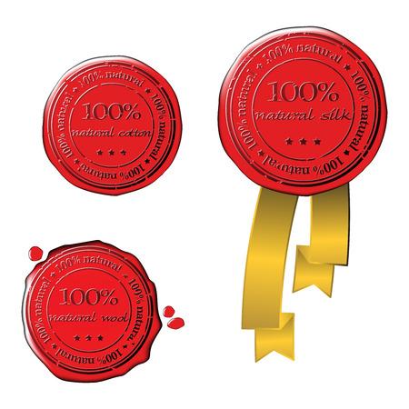 Sale wax stamp - vector set Stock Vector - 5124298