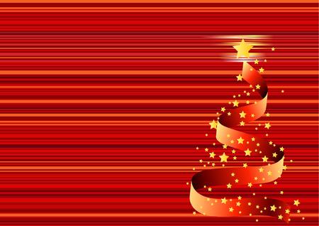 Christmas background, tree - vector illustration Stock Vector - 5140532
