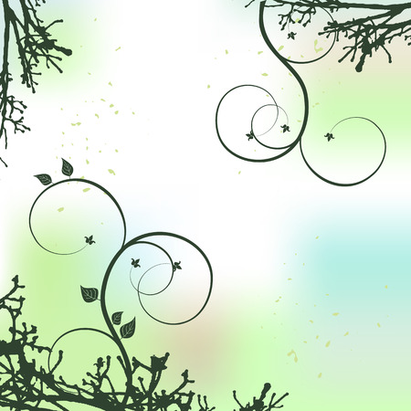floral background with a space for a text Vector