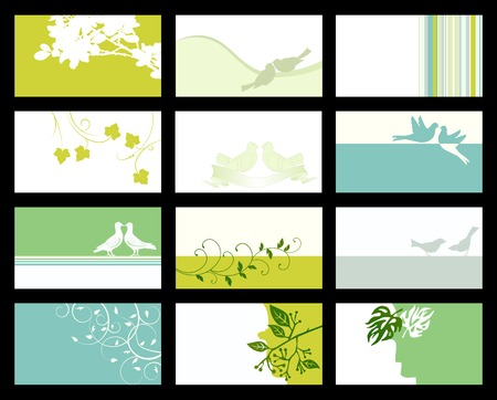 Business card - vector collection Stock Vector - 5233320
