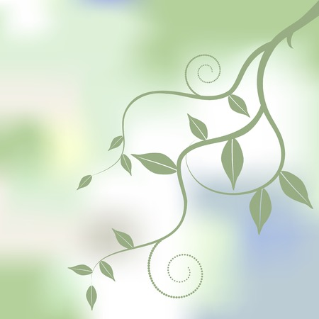Floral background, ornament, leaves Vector