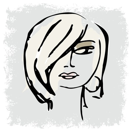 woman face silhouette for your design Vector