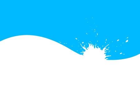 splash of water blue drops vector Vector