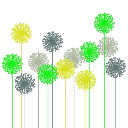 abstract dandelion silhouette - vector Vector