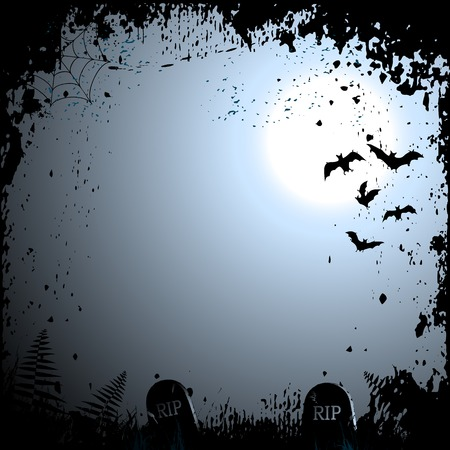 halloween background with place for your text Stock Vector - 5578181