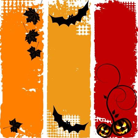 Halloween vertical banners, set Vector
