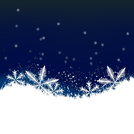 Winter background, snowflakes - vector illustration Stock Vector - 5632591