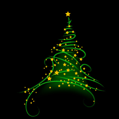 Christmas background, tree - vector illustration Stock Vector - 5657945