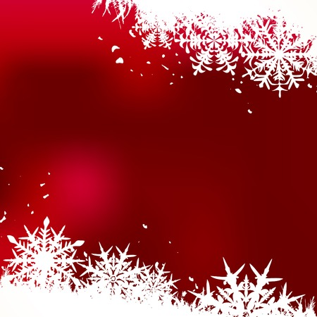 Winter background, snowflakes - vector illustration Stock Vector - 5657947