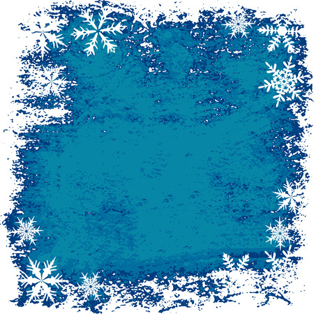 Winter background, snowflakes - vector illustration Stock Vector - 5657950