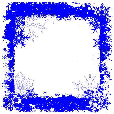 Winter background, snowflakes - vector illustration Stock Vector - 5696976