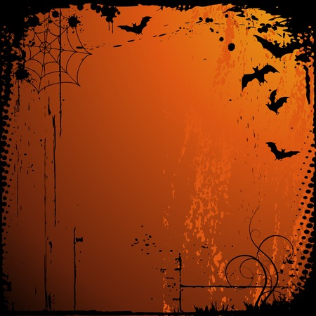 halloween background with place for your text Stock Vector - 5696978