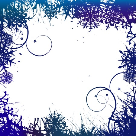 Winter background, snowflakes - vector illustration Stock Vector - 5727170