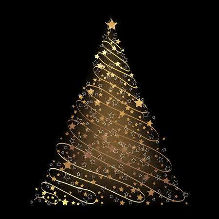 Christmas background, tree Stock Vector - 5767222