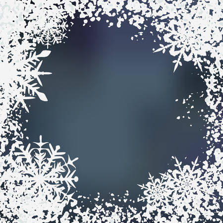 Winter background, snowflakes Stock Vector - 5794109