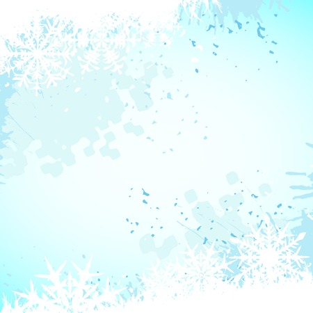 Winter background, snowflakes - vector illustration Stock Vector - 5846115