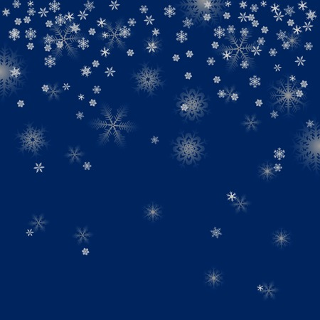 Winter background, snowflakes - vector illustration Stock Vector - 5846117