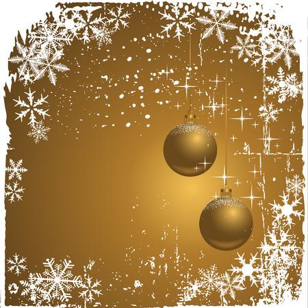 glint: Fondo de invierno con copos de nieve