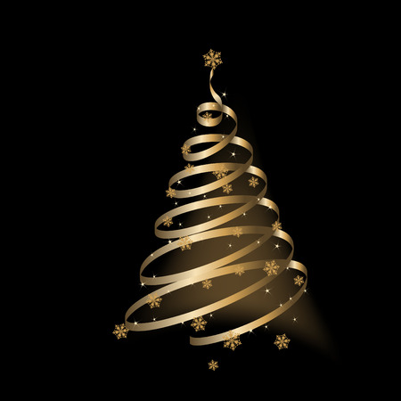 Christmas background, tree - vector illustration Stock Vector - 6005260