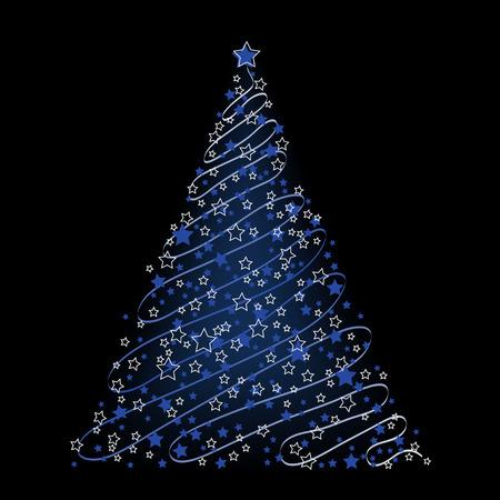 Christmas background, tree - vector illustration Stock Vector - 6052121