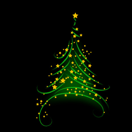 Christmas background, tree - vector illustration Vector