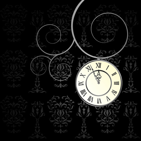 vector background with a clock - moving hands of the clock Vector