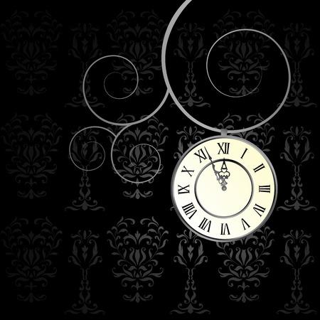 Vektor-Hintergrund mit einer Uhr - Zeiger der Uhr verschieben