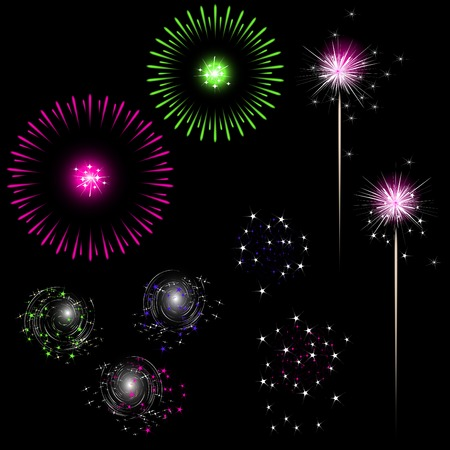 colorful fireworks with space for text Stock Vector - 6075978