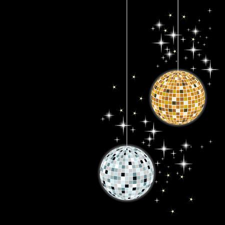 entertainment background: disco sphere - vector  Illustration