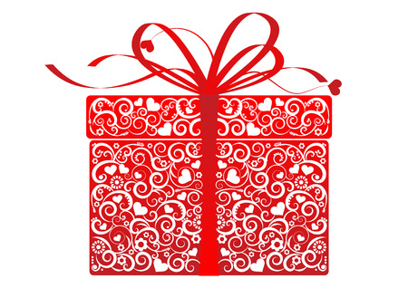 Stylized gift - vector Vector