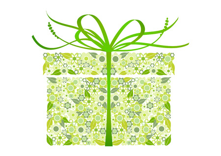 Stylized gift Vector