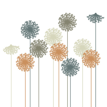 abstract dandelion silhouette  Vector