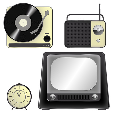 Retro object icons -  icon set  Vector